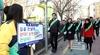 교육부, 새학기 각 초등학교 일대 '교통안전 캠페인'